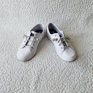Sperry White Leather Sneakers Women's 6